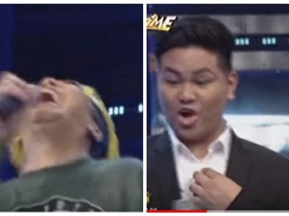 Vice Ganda trips on stage as he laughs on what Anne Curtis did