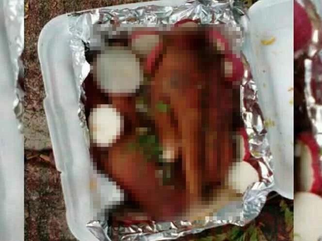 Encontraron manos mutiladas en un plato de comida