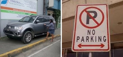 Binili ni ate ang sidewalk? Rude female driver illegally parks car on sidewalk, netizens didn't forgive her in their comments