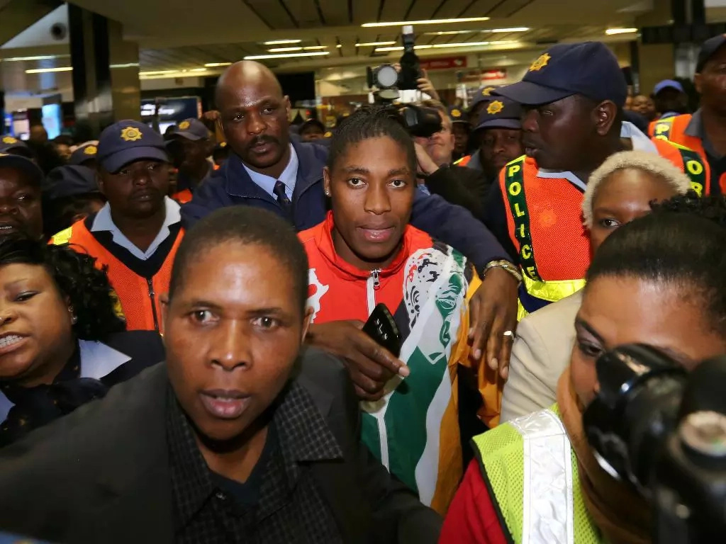 Caster Semenya gives gold medal to wife in South Africa