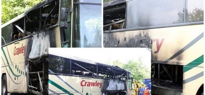 Quick thinking boy saves lives of 60 students just before a bus they were traveling in EXPLODES (photos)