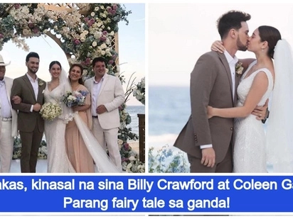 Kinasal na sila! Billy Crawford marries Coleen Garcia in Balesin