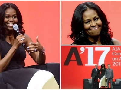Relaxed Michelle Obama makes first public appearance after 3-month holiday (photos)