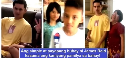 Ito ang tunay niyang ugali! Heartwarming video of James Reid relaxing with his family in his house goes viral