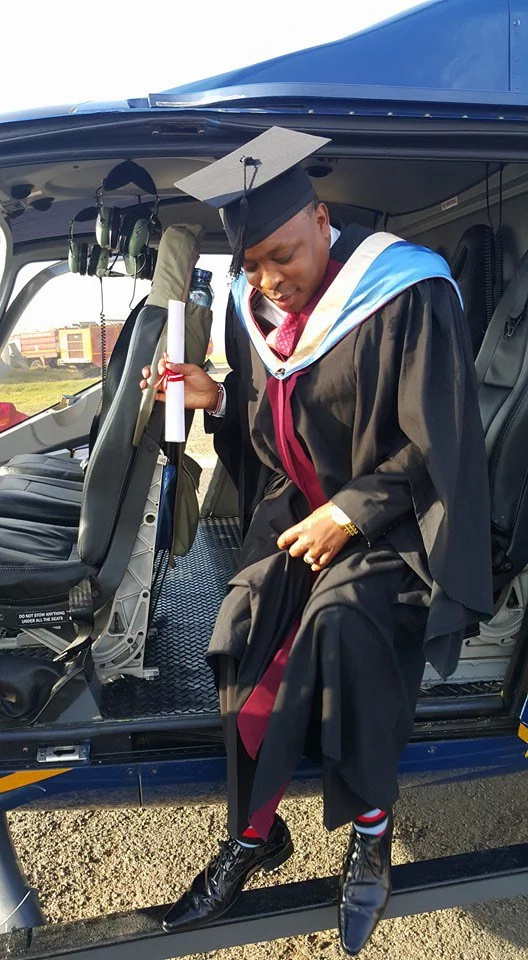Pastor blasts uneducated pastors after getting his first degree (Photos)