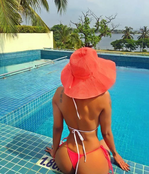 Photos that show Huddah Monroe's petit derriere