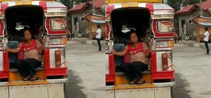 Poor Pinay grandma riding at the back of a jeepney with all other passengers sitting inside comfortably will break your heart into pieces