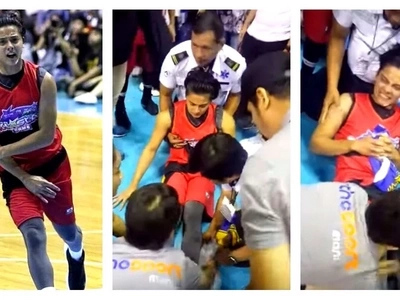 Ang sakit naman nun! Intense video of Daniel Padilla experiencing a muscle spasm in his leg during the Star Magic basketball game goes viral!