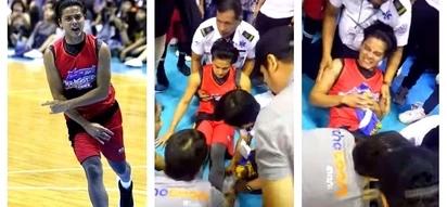 Ang sakit naman nun! Intense video of Daniel Padilla experiencing a muscle spasm in his leg during the Star Magic basketball game goes viral!