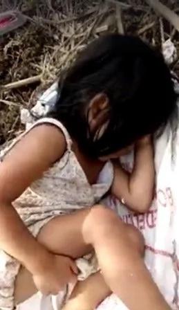 Poor child fell asleep awaiting father's return