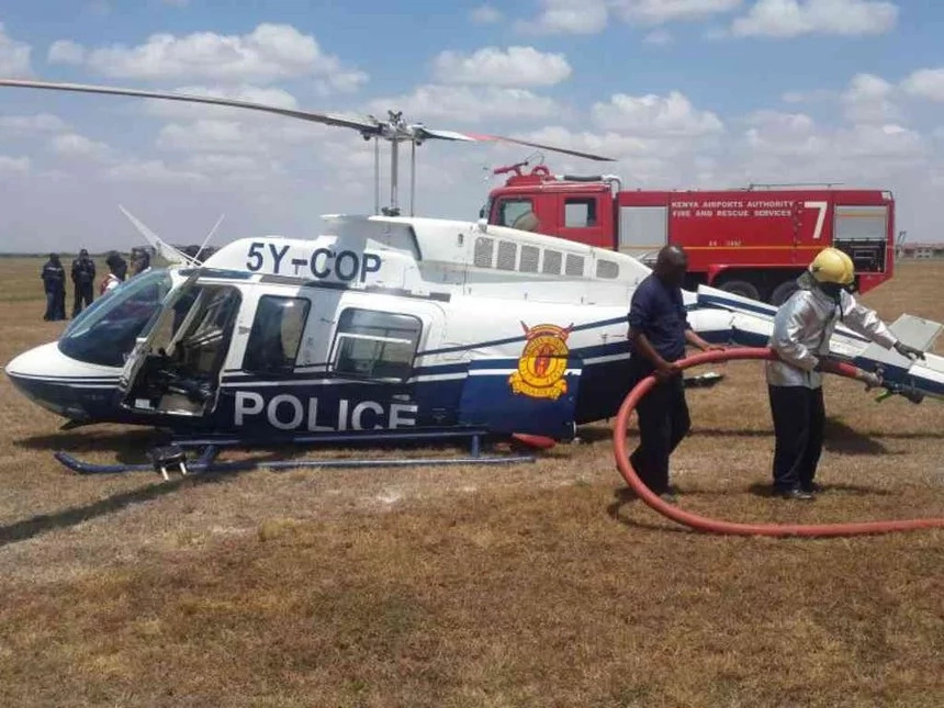Police officers injured in an aircraft crash at Wilson Airport