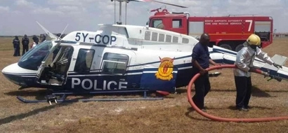 Police officers fighting for their lives after aircraft crash at Wilson airport