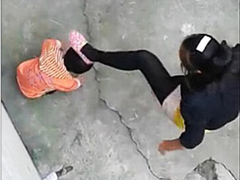 Chinese stepmother whips toddler violently