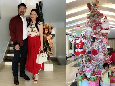 There's no place like home! Manny Pacquiao's mansions bloom with Christmas decors
