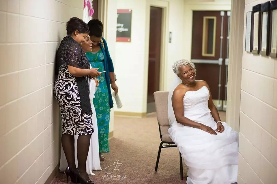 The look of a happy bride. Photo: Gianna Snell Photography