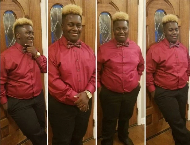 16-year-old student forced out of class, denied lunch for his BLONDE haircut (photos)