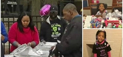 Thoughtful girl, 6, asks parents not to buy her birthday presents but to FEED homeless people (photos)