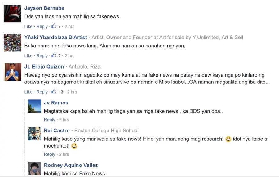 "Vivian Velez deletes ""RIP"" message to Isabel Granada"
