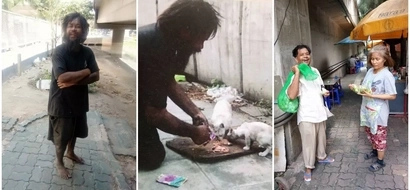 Homeless man makes sure he feeds his family of cats before feeding himself (photos)