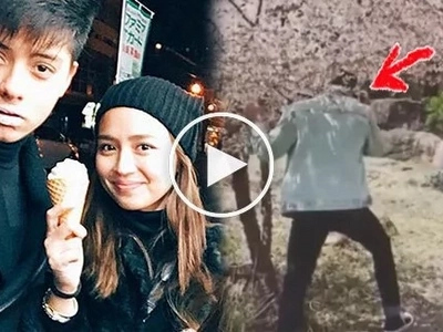 Konting disiplina po! Daniel Padilla violates sacredness of Japan cherry blossoms just for a selfie! Watch what he did!