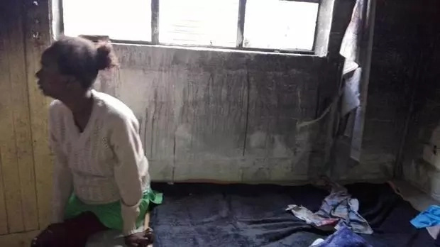 Disturbing! Pregnant woman sleeps in ravaged home after trauma