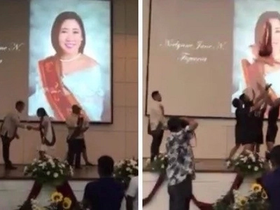 Ang huling lipad! Graduating cheerleader performs breathtaking stunt upon receiving her diploma on stage