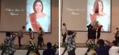 Ang huling lipad! Graduating cheerleader performs breathtaking stunt upon receiving her diploma on stage