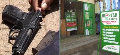 Video of armed thugs robbing an M-Pesa in Uthiru and shooting residents