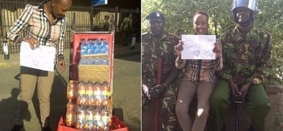 As you hate on police officers, this Nairobi lady is giving them free food(photos)