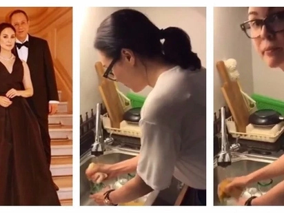 Walang kaarte-arte ang Doña! Gretchen Barretto caught on video washing the dishes