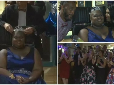 Heartwarming! High school students surprise cancer patient, 17, with PROM in hospital (photos)