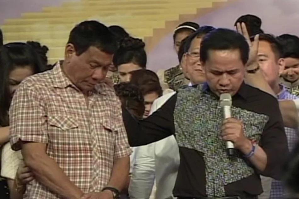 Quiboloy no hard feelings for Duterte