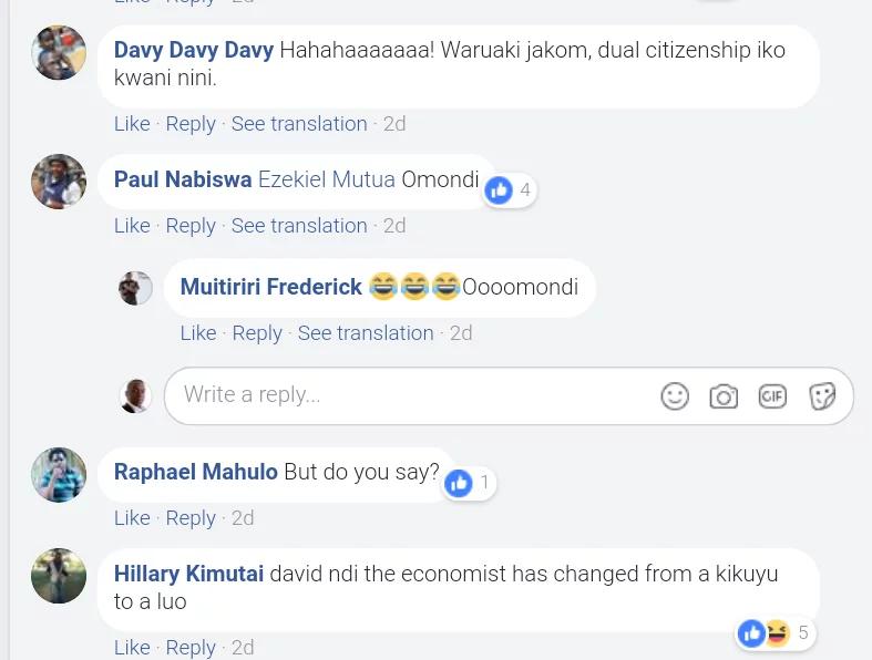 Ezekiel Mutua asema angekuwa Mluo, baadhi ya Wakenya wakubaliana naye