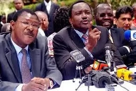 Kalonzo, Wetangula hold secret meeting in absence of Raila