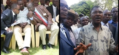 Luhya MPs violently exchange blows at a Kitale hotel as Wetangula plays 'referee'
