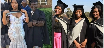 Inspiring! Graduate thanks her security guard father for seeing her through university (photos)