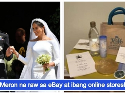 Ilang bisita sa Royal wedding nina Prince Harry at Meghan Markle, binibenta ang giveaways sa halagang 70,000PHP