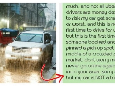 This Pinoy Uber driver tells his rider that his vehicle is not a tricycle - read their heated conversation here!