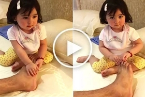 Super sweet Scarlet Snow gives her dad Hayden Kho a special foot massage