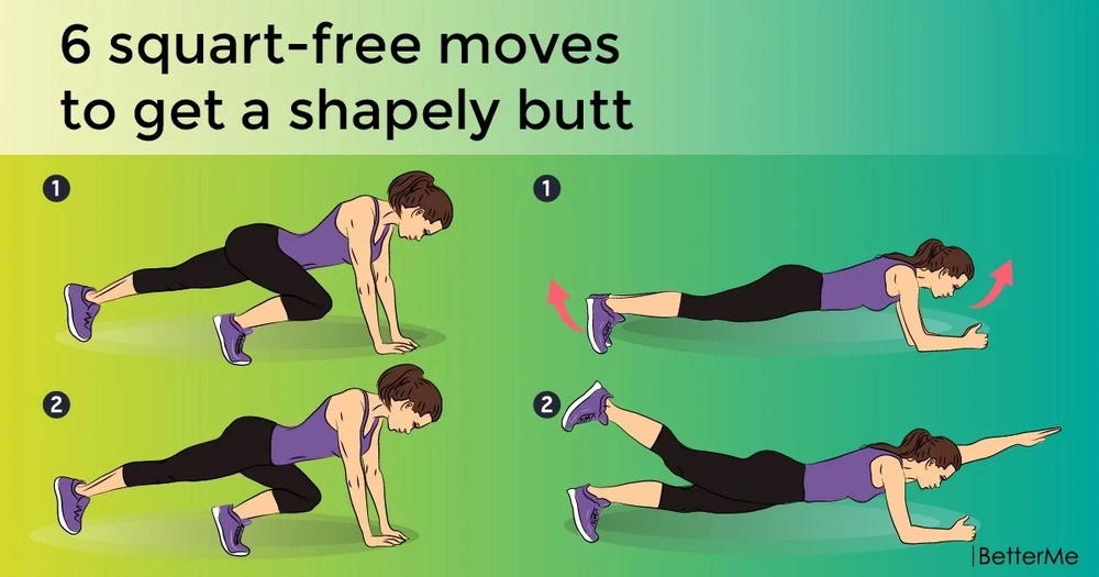 6 squart-free moves to get a shapely butt