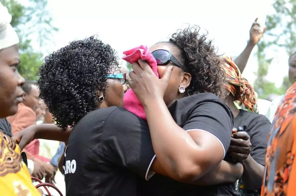 Till they meet again! Mixed emotions at Gloria Muliro Father's Funeral (Photos)