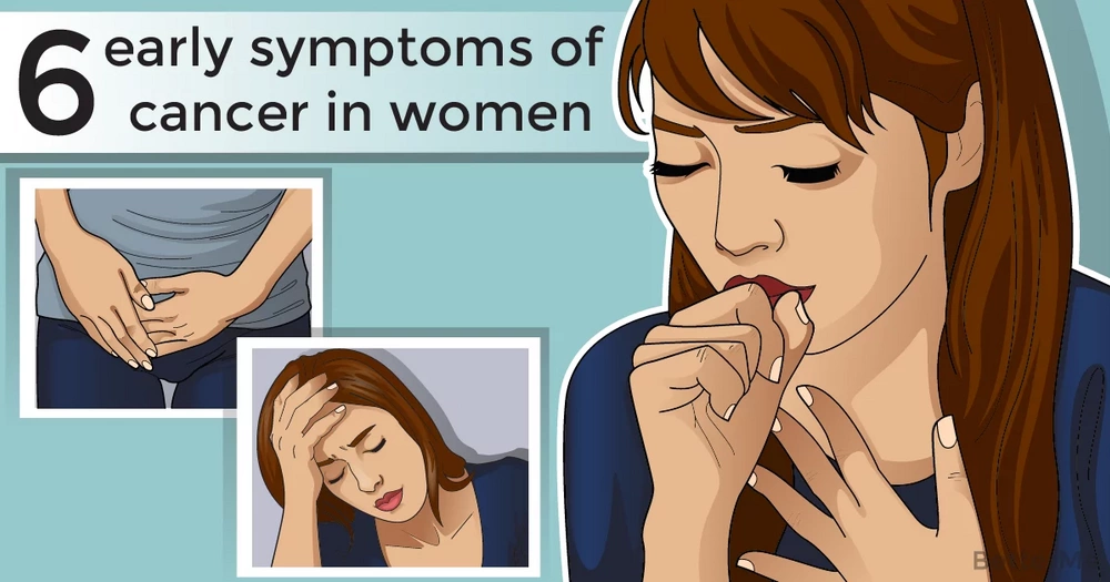 6 early symptoms of cancer in women