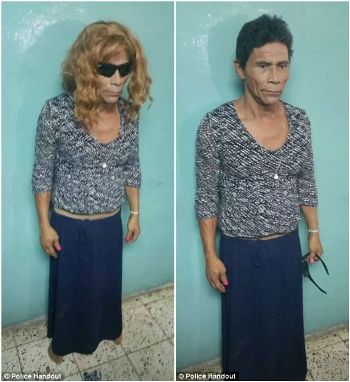 Francisco tried to break out of jail dressed as a woman