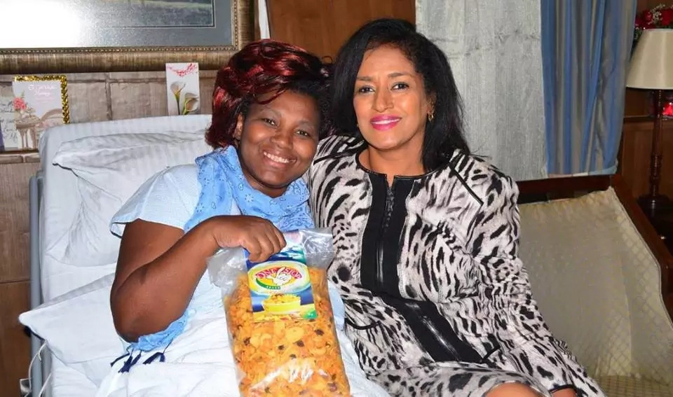Passaris visits Shebesh in hospital and you won't believe what she took her(photo)