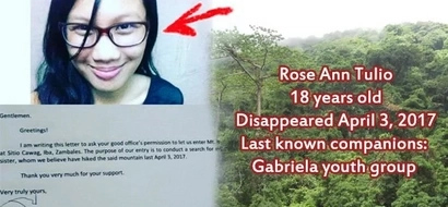 This girl climbed the mountains with Gabriela youth group. Now, her family is seeking help as she disappeared without a trace!