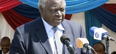 Former President Mwai Kibaki Responds To KSh 500K Water Debt Claims