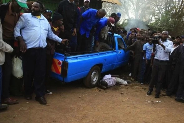 Bullets rain in Nyeri town as police pursue thugs, trader shot