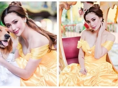Ubod ng ganda! Stunning Arci Muñoz dresses up as Belle for charity party to celebrate her birthday