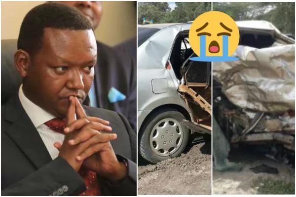 Gavana Alfred Mutua atuma ujumbe utakaokufanya utokwe machozi baada ya walinzi wa mkewe kupata ajali