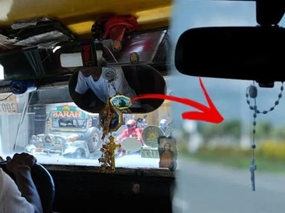 Grabe na! Netizens express outrage after IRR of Distracted Driving Law bans rosaries inside vehicles